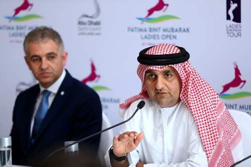 Aref Al Awani, General Secretary, Abu Dhabi Sports Council speaks during a press confrence on March 23, 2016 in Abu Dhabi, United Arab Emirates. (Photo by Francois Nel/Getty Images)