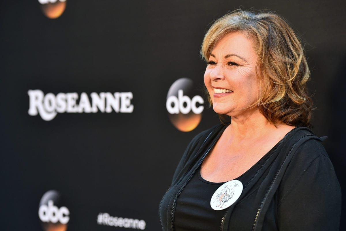 """Comedian Roseanne Barr attends the premiere of ABC's """"Roseanne"""" at Walt Disney Studio Lot on March 23, 2018 in Burbank, California [Alberto E. Rodriguez / Getty Images]"""