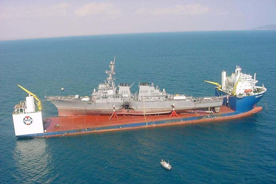 MV Blue Marlin carrying USS Cole
