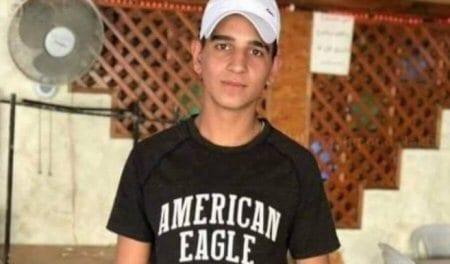 Palestinian teen, Mahmoud Nakhleh, was shot dead by Israeli forces on 14 December 2018 [Twitter]