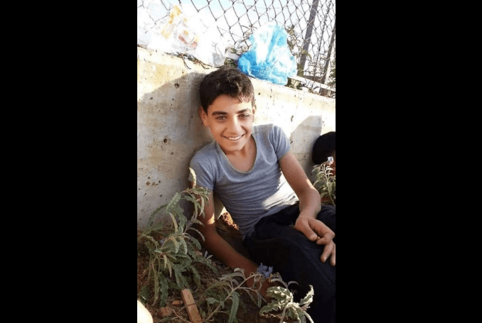 Abdel-Raouf Ismail Mohammad Salha (13) succumbed to wounds sustained during Great March of Return on 11 January 2019. [Twitter]