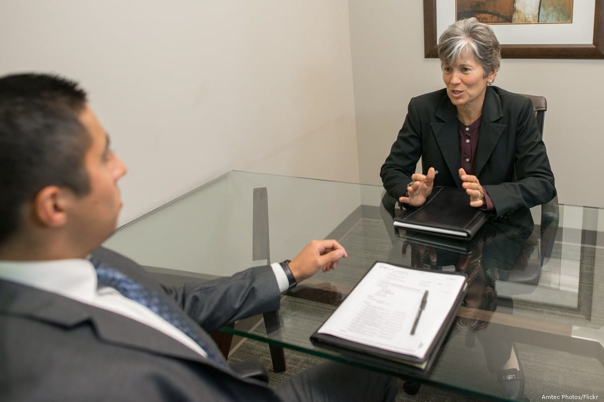 A job interview taking place [Amtec Photos/Flickr]