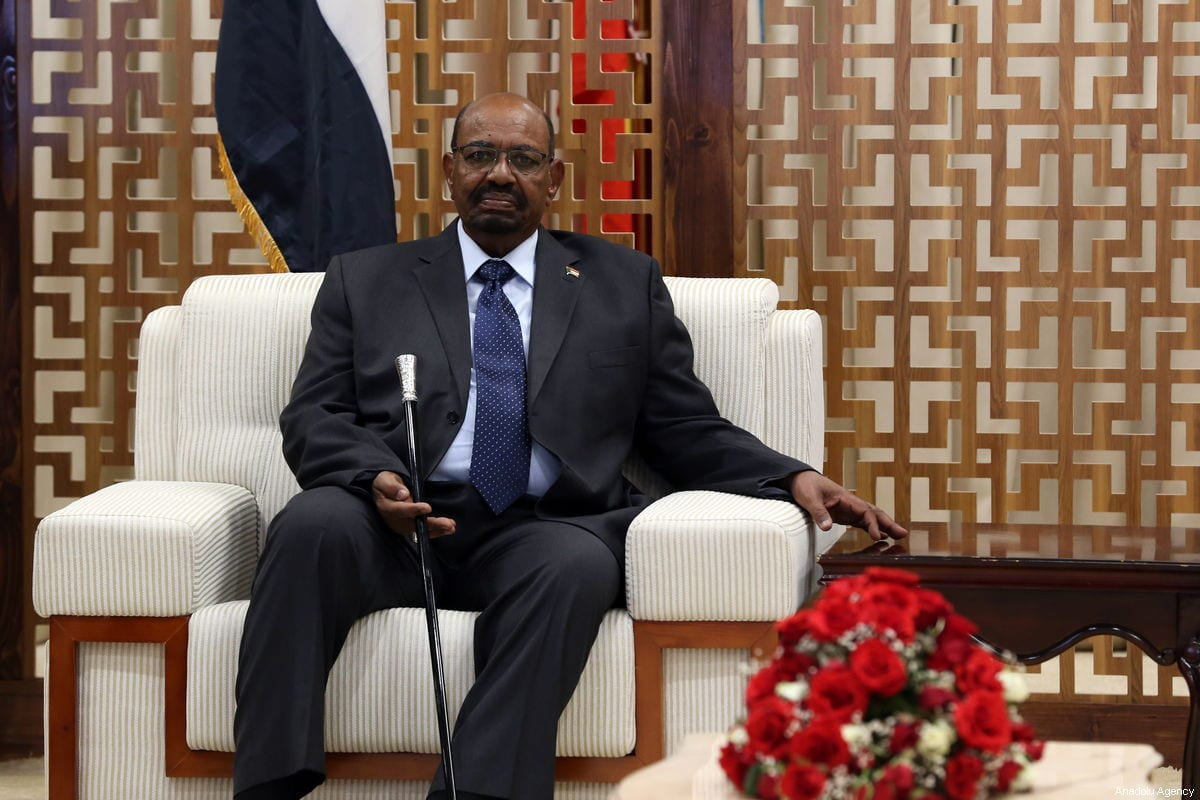 Sudanese President Omar Al-Bashir arrives at the Addis Ababa Bole International Airport to attend the 32nd African Union Leaders' Summit in Addis Ababa, Ethiopia on February 9, 2019 [Minasse Wondimu Hailu / Anadolu Agency]