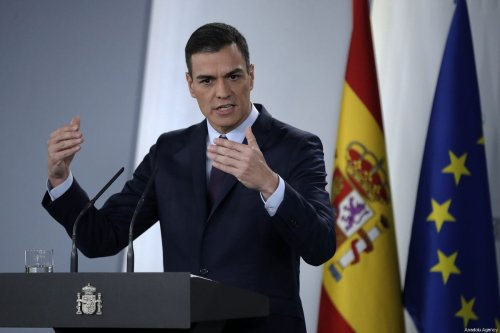 Prime Minister of Spain Pedro Sanchez speaks during a press conference in Madrid, Spain on 15 February 2019 [Burak Akbulut/Anadolu Agency]