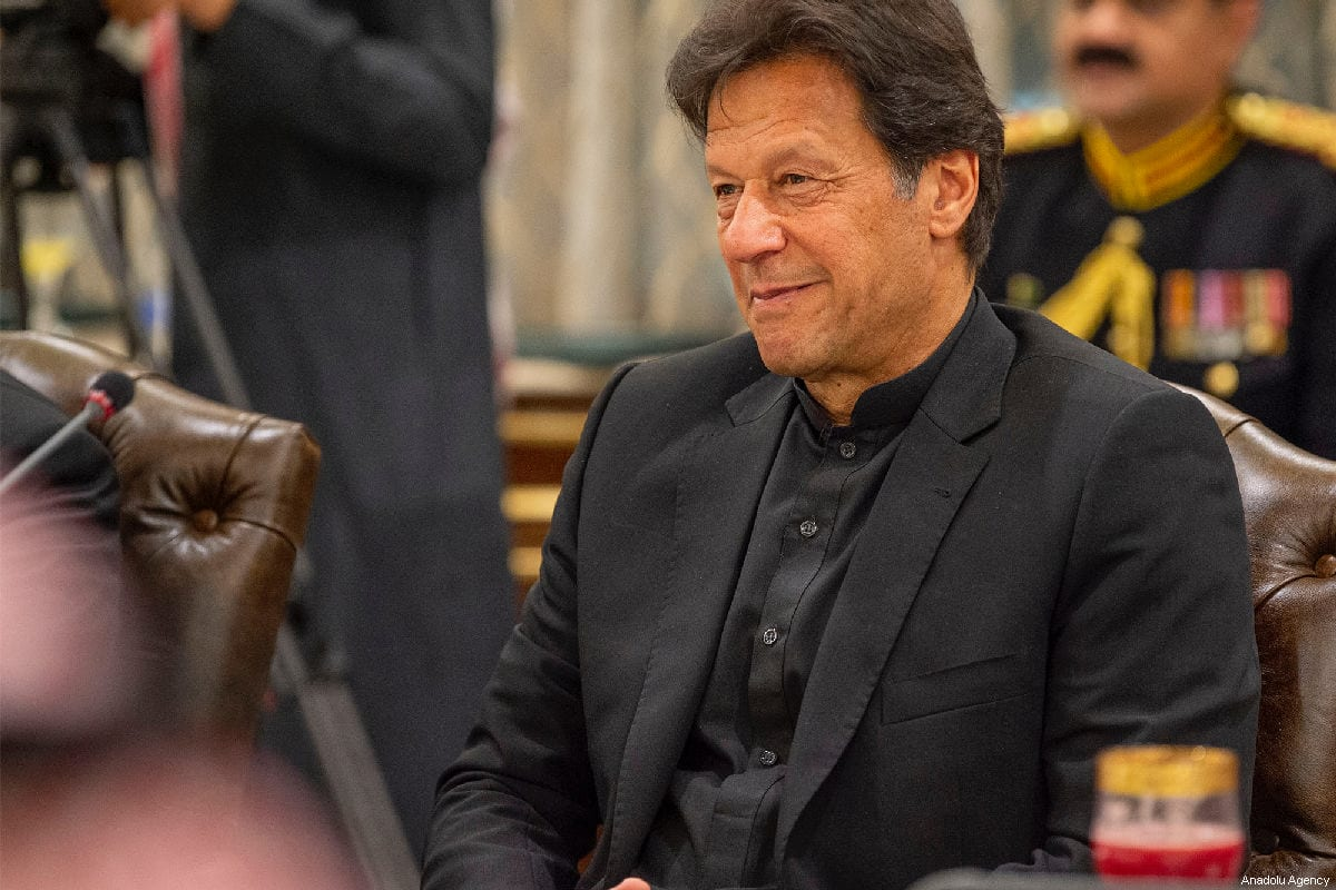 Prime Minister of Pakistan Imran Khan in Islamabad, Pakistan on 17 February, 2019 [Bandar Algaloud/Saudi Kingdom Council/Handout/Anadolu Agency]