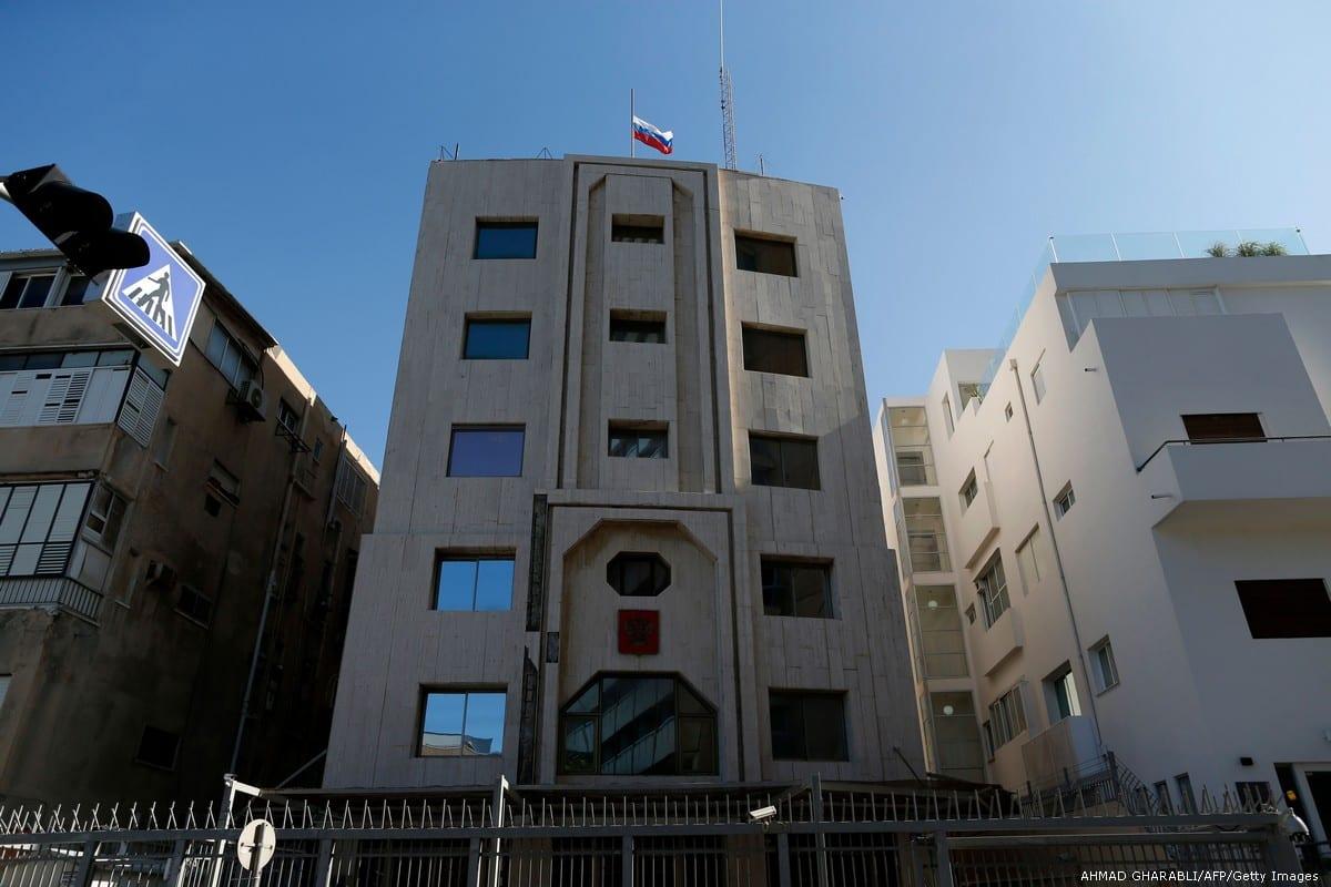 The Russian embassy is seen in Tel Aviv, on 20 December 2016 [AHMAD GHARABLI/AFP/Getty Images]