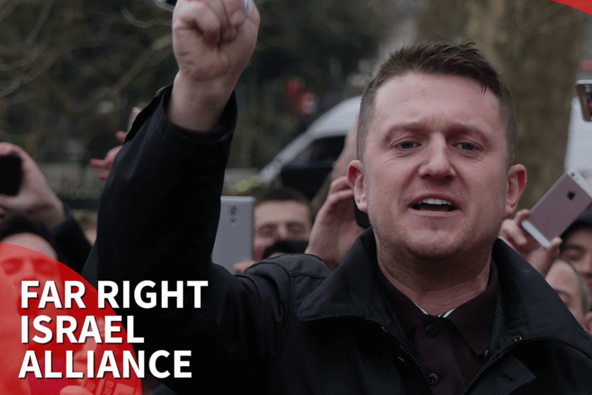 Thumbnail - UK far right activist Tommy Robinson vows to go to war for Israel