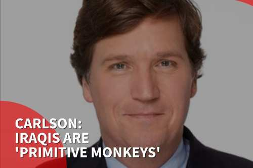 Thumbnail: Fox News host Iraqis are 'a bunch of primitive monkeys'