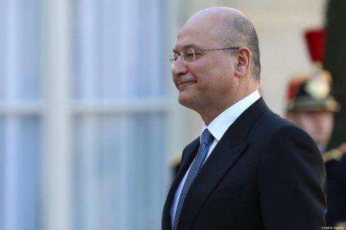 Iraqi President Barham Salih arrives at the Elysee Palace for his meeting with French President Emmanuel Macron (not seen) in Paris, France on 25 February 2019. [Mustafa Yalçın - Anadolu Agency]