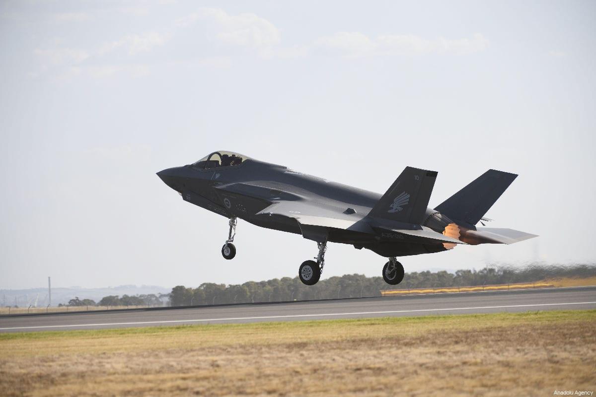F-35 Lightning fighter jet on March 01, 2019 [Recep Şakar/Anadolu Agency]