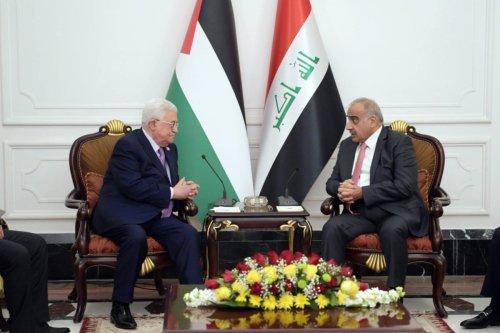 Palestinian President Mahmoud Abbas meets Prime Minister of Iraq Adil Abdul-Mahdi in Baghdad, Iraq on March 3, 2019. [Thaer Ghanaim / Palestinian Presidenct / Handout - Anadolu Agency]