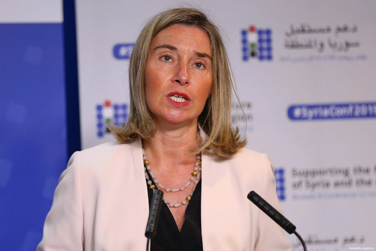 High Representative of the European Union for Foreign Affairs and Security Policy, Federica Mogherini in Brussels, Belgium on 13 March, 2019 [Dursun Aydemir/Anadolu Agency]