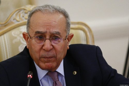 Algerian Foreign Minister Ramtane Lamamra meets with Russian Foreign Minister Sergey Lavrov (not seen) in Moscow, Russia on 19 March 2019 [Sefa Karacan/Anadolu Agency]
