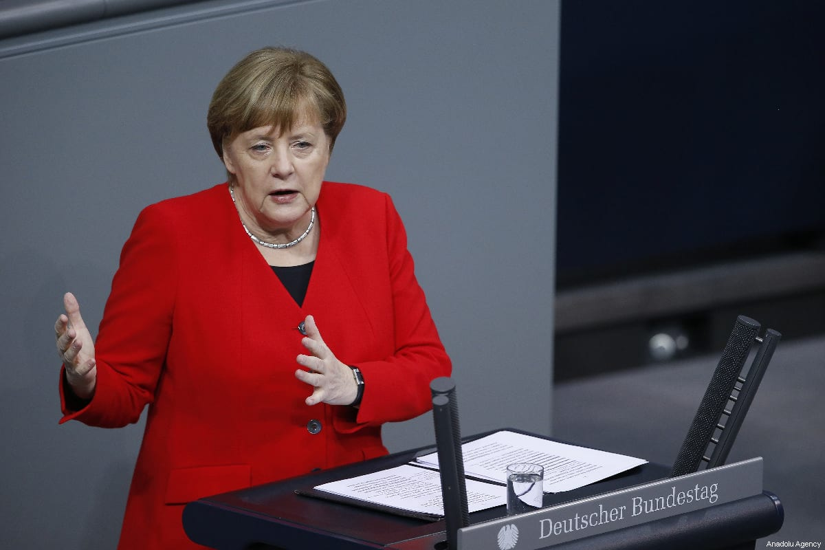 German Chancellor Angela Merkel answers in Berlin, Germany on 21 March 2019 [Abdülhamid Hoşbaş/Anadolu Agency]