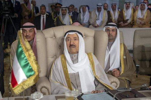 Emir of Kuwait Sheikh Sabah IV Ahmad Al-Jaber Al-Sabah in Tunis, Tunisia on March 31, 2019 [Yassine Gaidi/Anadolu Agency]