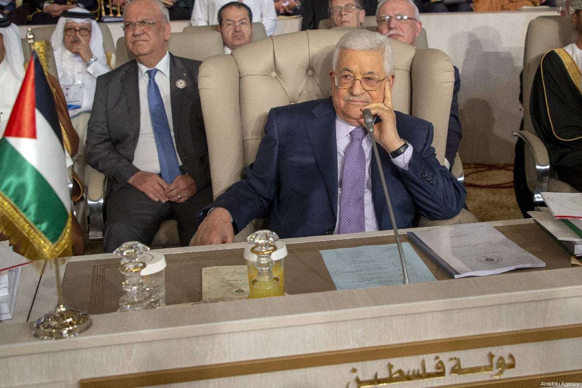 Palestinian President Mahmoud Abbas attends the opening session of the 30th Arab League Summit in Tunis, Tunisia on 31 March 2019 [Yassine Gaidi/Anadolu Agency]