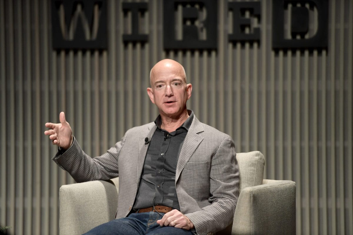 Jeff Bezos speaks onstage at WIRED25 Summit: WIRED Celebrates 25th Anniversary With Tech Icons Of The Past & Future on October 15, 2018 in San Francisco, California [Matt Winkelmeyer/Getty Images for WIRED25]