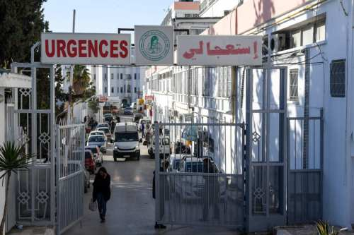 This picture taken on March 9, 2019 shows the entrance of the Wassila Bourguiba state maternity hospital in the Tunisian capital Tunis, at which 11 newborn babies died suddenly in its Rabta clinic, prompting a government probe into the incident [FETHI BELAID/AFP/Getty Images]