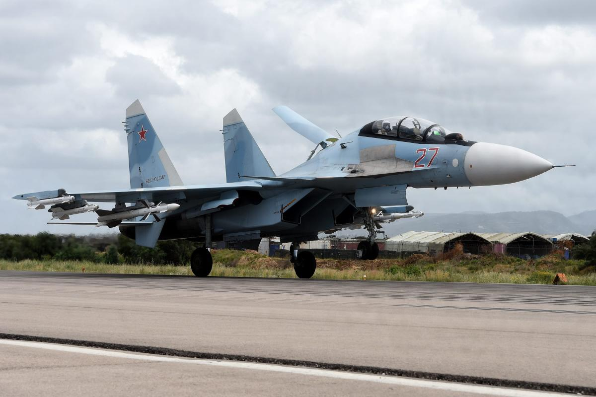 A Russian Sukhoi Su-35 IN Syria on 4 May 2016 [VASILY MAXIMOV/AFP/Getty Images]