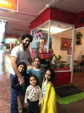 Palestinian Wassim Abdel-Razaq, pictured with his children, was one of the victims in New Zealand terror attack when a gunmen fired at worshippers during Friday prayer on 15 March 2019