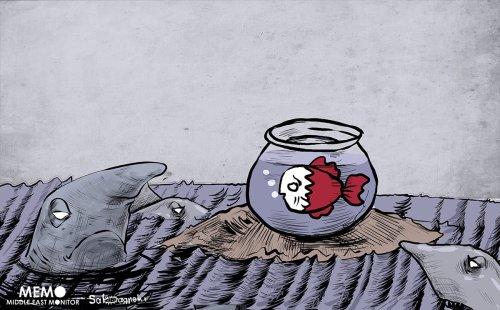 The Arab rift with #Qatar intensifies - Cartoon [Sabaaneh/MiddleEastMonitor]