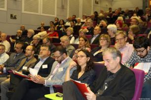 Audience members seen at MEMO's 'Present Absentees' conference in London on April 27, 2019 [Middle East Monitor]