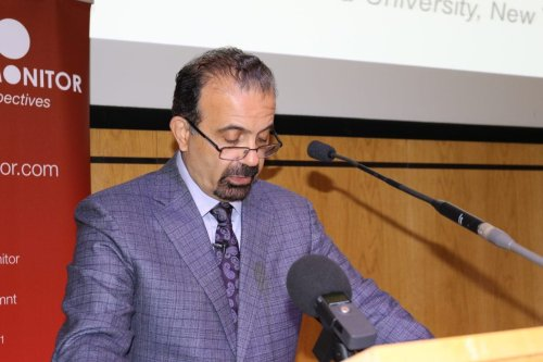Professor Joseph Massad makes the keynote speech at Present Absentees: Palestinian Citizens of Israel & the Nation-State Law in London on 27 April 2019 [Middle East Monitor]