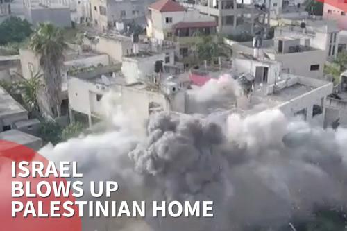 Israel blows up family home of killed Palestinian