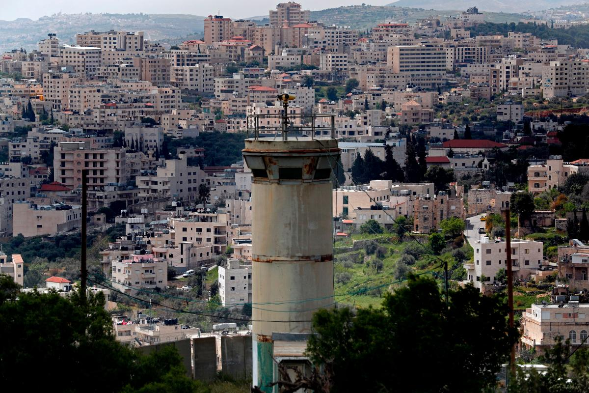 A picture taken from the Israeli settlement of Gilo in Jerusalem on 17 April 2019 [THOMAS COEX/AFP/Getty]
