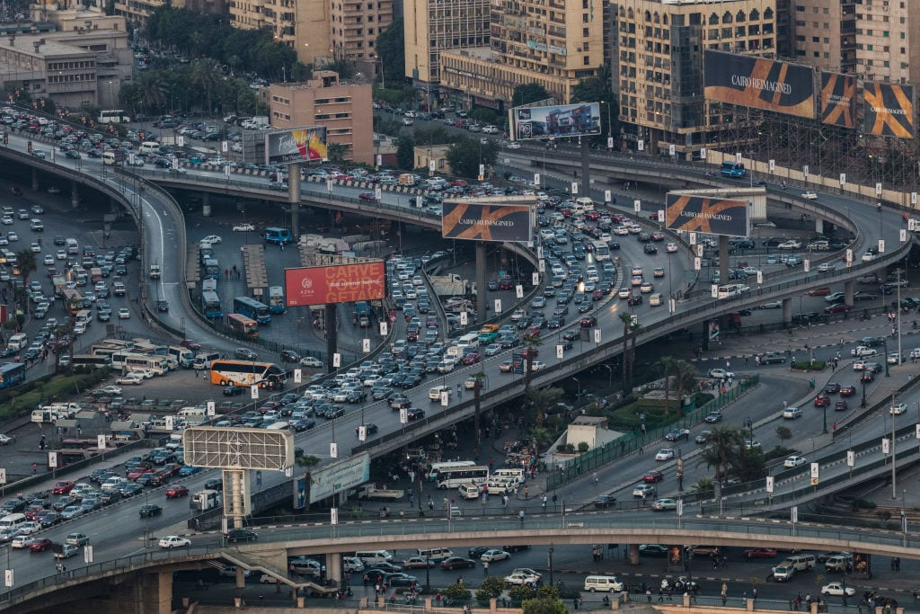 A major traffic interchange in central Cairo, Abd El-Moneim Riad Square on 24 September, 2017 in Cairo, Egypt [David Degner/Getty Images]
