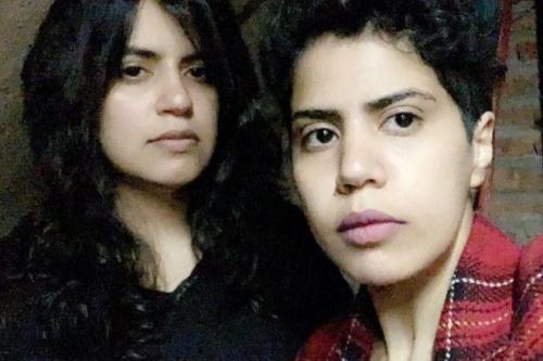 Two Saudi sisters Maha (L) and Wafa (R) [Twitter]