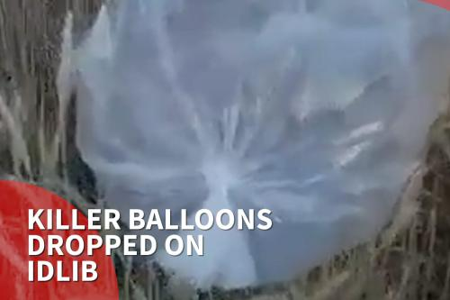 Thumbnail - Balloons filled with explosive gas dropped on Idlib