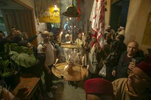 Tunisian Muslims perform invocation to mark Islamic holy month of Ramadan in Tunis, Tunisia on 17 May 2019 [Yassine Gaidi/Anadolu Agency]