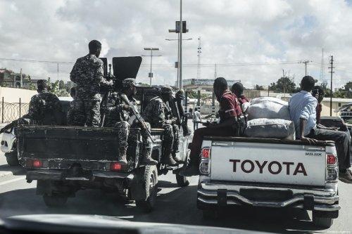 Somalian security forces are seen at the streets of Mogadishu, Somalia on May 18, 2019 [Cem Genco / Anadolu Agency]