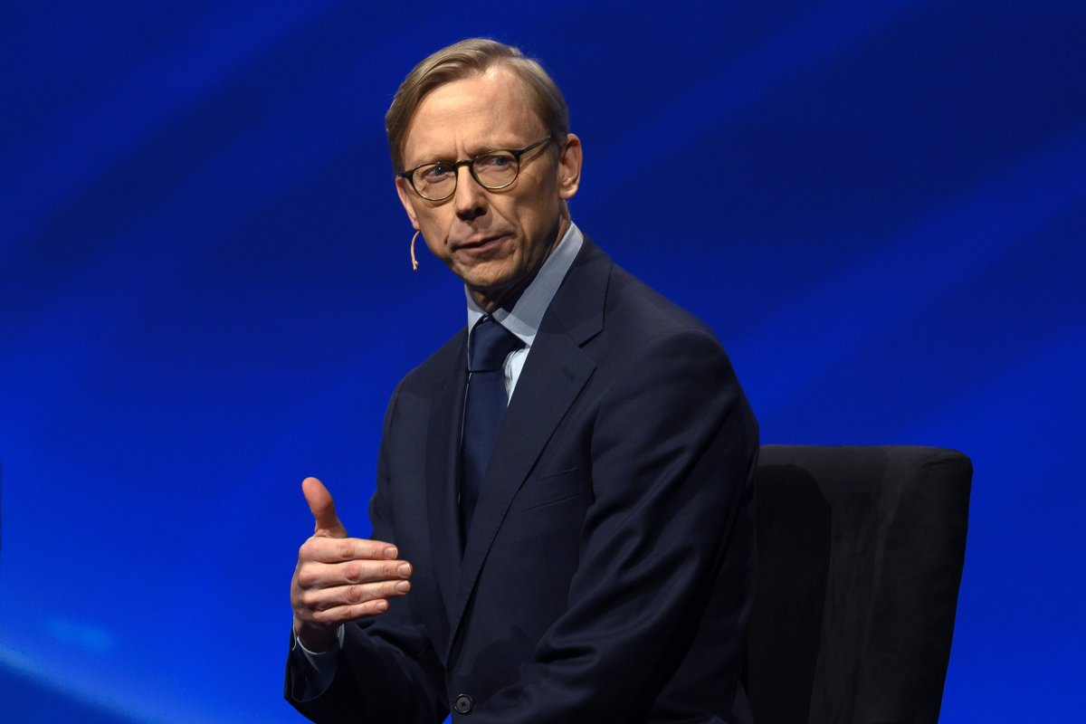 Brian Hook, the US State Department Special Representative for Iran, speaks during the American Israel Public Affairs Committee (AIPAC) conference in Washington, DC on 24 March 2019 [ANDREW CABALLERO-REYNOLDS/AFP/Getty Images]