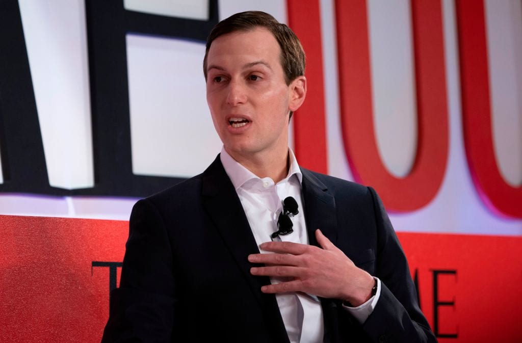 Senior Advisor to the President Jared Kushner speaks during the Time 100 Summit event 23 April, 2019 in New York [DON EMMERT/AFP/Getty Images]