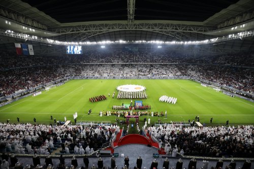 The opening ceremony of the Amir Cup final match in Qatar on 16 May 2019 [Christopher Pike/Getty Images for The 2022 Supreme Committee for Delivery and Legacy]