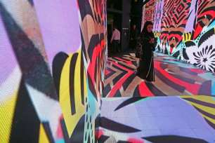 People visit the Art Dubai exhibition in the Gulf emirate on 14 March, 2017, on the eve of the opening of the 11th annual art fair, billed as the largest contemporary art show in the Middle East and North Africa [KARIM SAHIB/AFP/Getty Images]