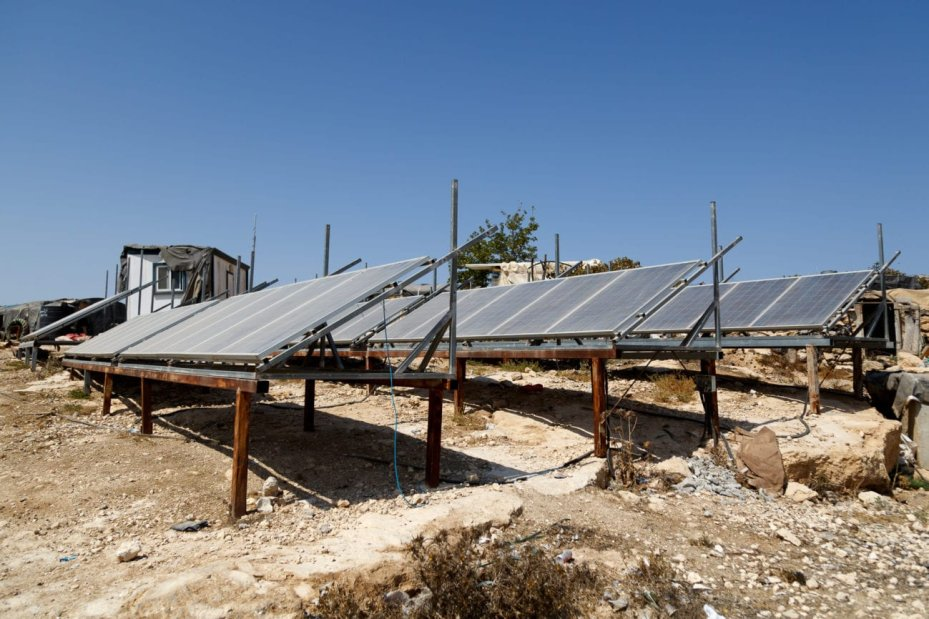 Solar panels donated from Germany have been providing residents of Susiya much needed electricity