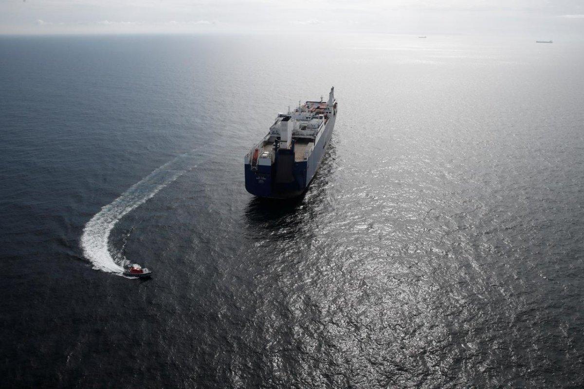 A Saudi Arabian cargo ship [REUTERS]