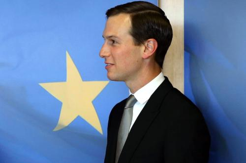 US President Donald Trump's senior White House adviser and son-in-law Jared Kushner and European Commission President Jean-Claude Juncker (not seen) meet in Brussels, Belgium on 4 June 2019. [Dursun Aydemir - Anadolu Agency]
