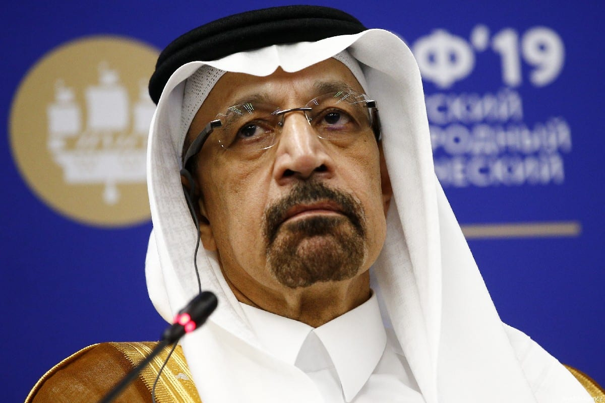 Saudi Arabia's Energy Minister Khalid Al-Falih in Saint Petersburg, Russia on 7 June 2019 [Sefa Karacan/Anadolu Agency]