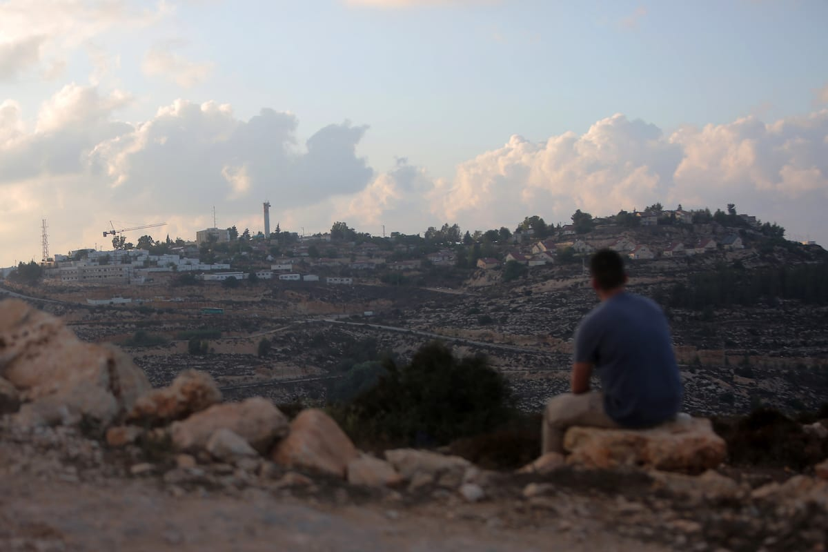 A general view of the Jewish settlement of Ma'aleh Labouna in the West Bank town of Laban near Nablus on 28 August 2018 [Shadi Hatem - Apaimages]