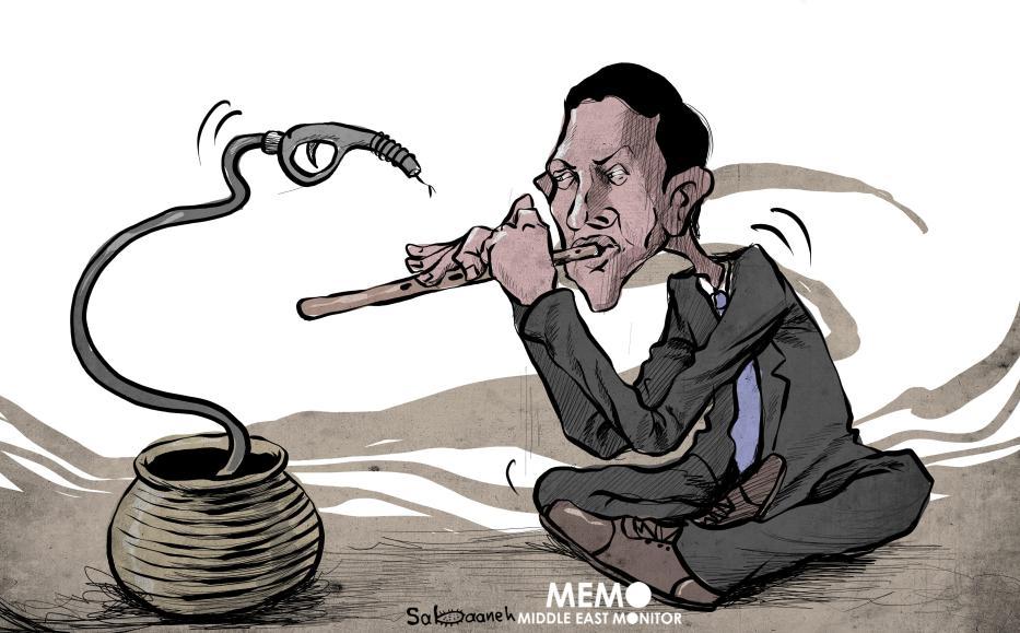 Kushner and Arab countries - Cartoon [Sabaaneh/MiddleEastMonitor]