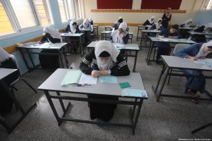 Students in Gaza seen during their high school final exams on June 8, 2019 [Mohammed Asad / Middle East Monitor]