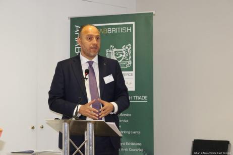 Palestinian Ambassador to the UK Husam Zomlot at Palestine Entrepreneurship Day in London, UK on 14 June 2019 [Jehan Alfarra/Middle East Monitor]
