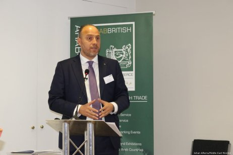 Palestinian Ambassador to the UK Husam Zomlot at Palestine Entrepreneurship Day in London, UK on 14 June 2019 [Jehan Alfarra/Middle East Monitor]
