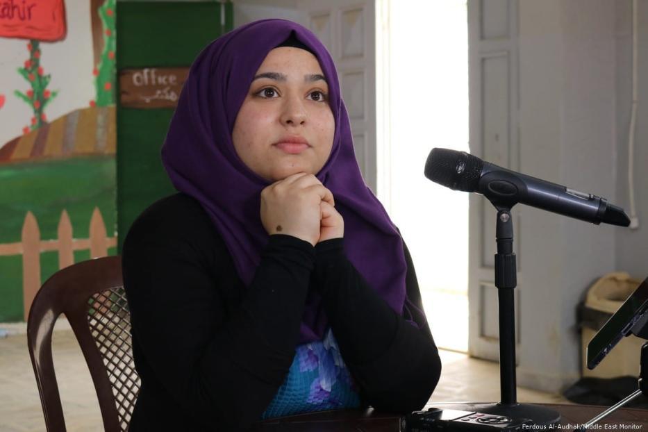 21-year-old Nahr Al-Bared resident Nadine Ahmed Ali.