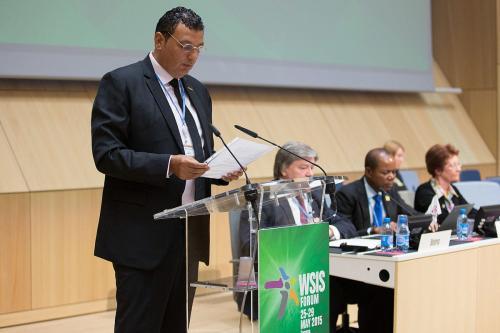 Nizar Zakka, Lebanese IT expert, speaking at the World Summit on the Information Society (WSIS) Forum, on May 27, 2015 [ITU/I.Wood/Wikimedia]
