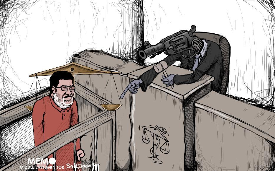 Image result for cartoon on morsi's death